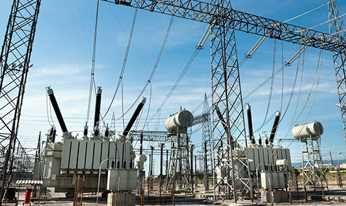 High voltage substation