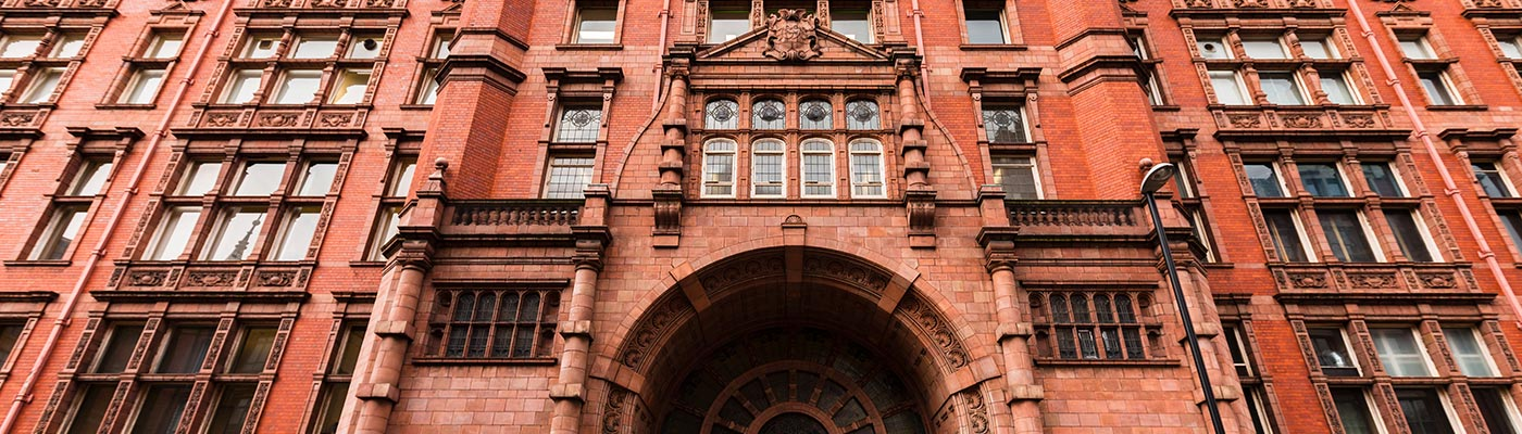 Front view of Sackville Street Building's main entrance
