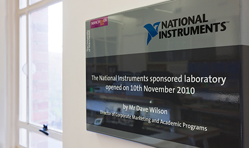 The National Instruments-sponsored laboratory at the University