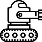 Unmanned ground vehicles icon