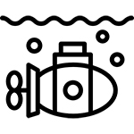 Unmanned underwater vehicles icon