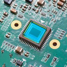 Photosensitive sensor on printed circuit board