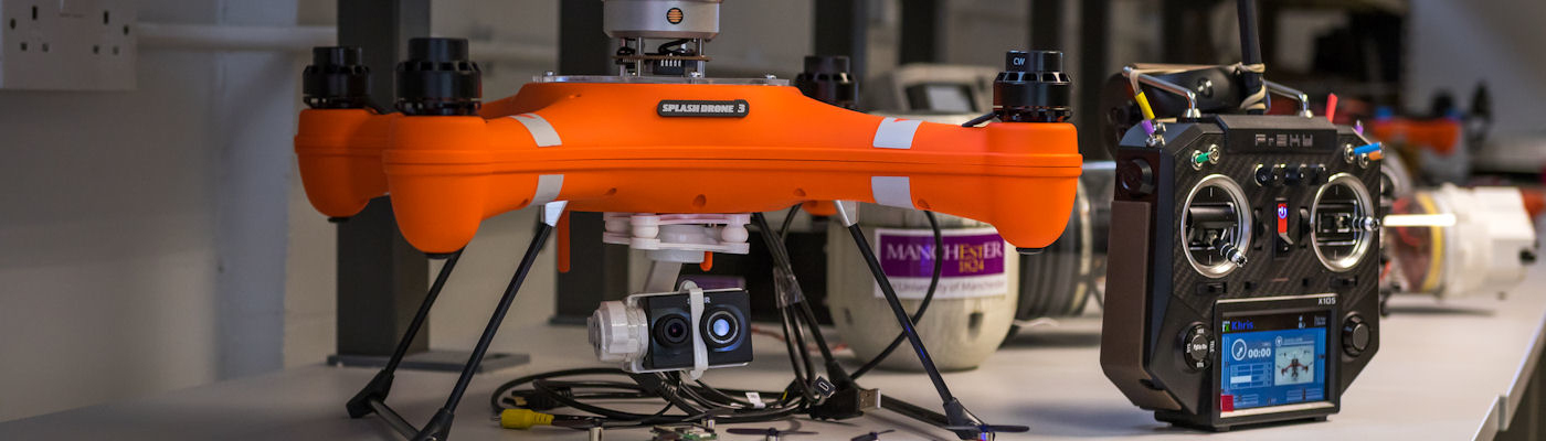 Orange drone with controller