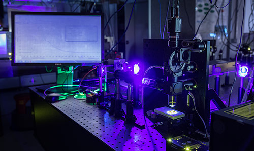 A laser experiment at the Photon Science Institute